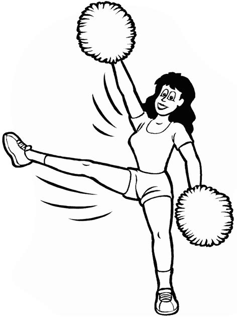 cheer bow coloring page cheerleading coloring page az coloring pages