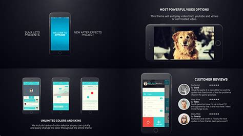 cool after effects templates 29 cool after effects templates for mobile app promo