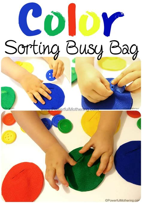 Color Sort Busy Activity For Children 365 Days Of Crafts - felt color sorting busy bag