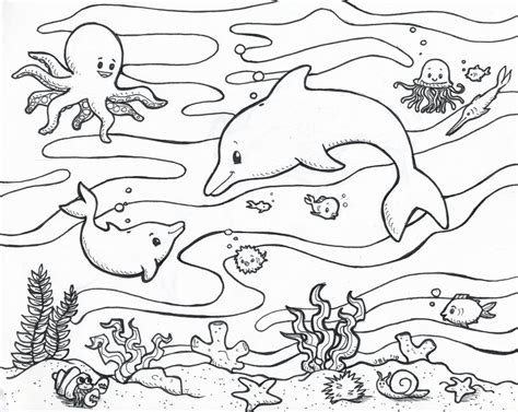ocean coloring page by secondglance on deviantart