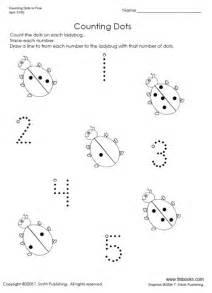 Snapshot image of counting dots to 5 worksheet