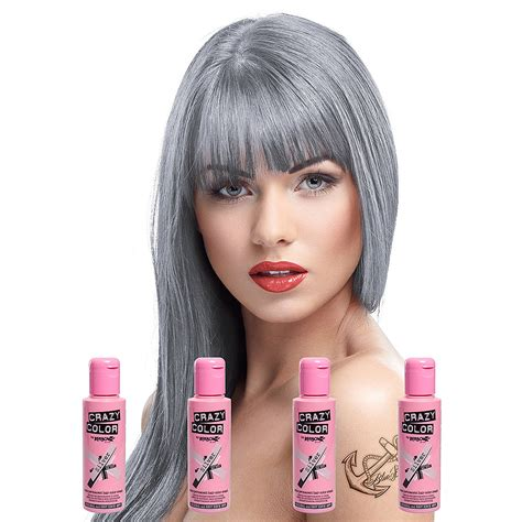 silver hair dye best brands for men permanent silver crazy colour semi permanent silver colour hair dye 4 pack