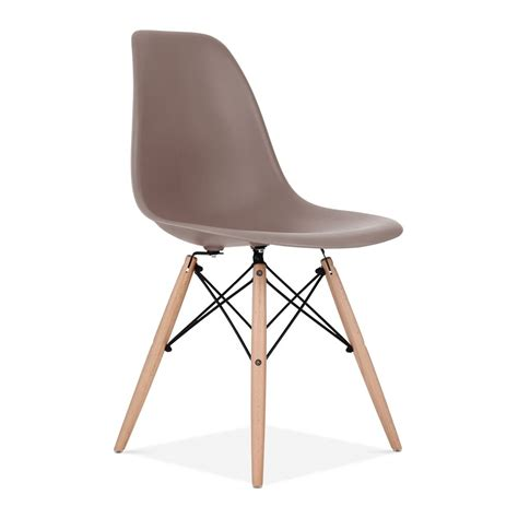 cafe armchair eames style warm grey dsw chair cafe side chairs cult uk