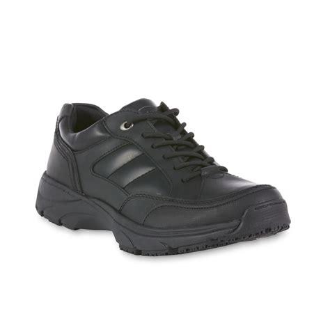 dr scholl s s aiden black leather slip resistant work