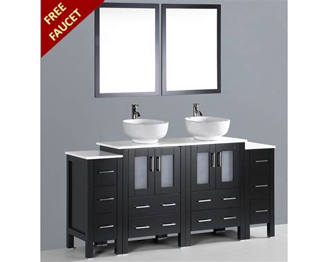 round bathroom vanity 72in double round sink vanity by bosconi boab224ro2s