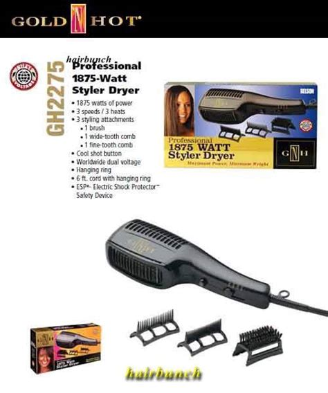 Gold N Hair Dryer Attachments gold n gh2275 1875w styler hair dryer with comb