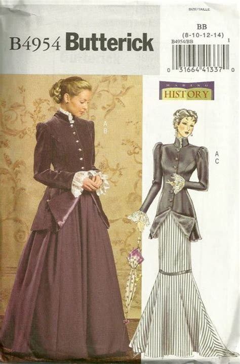 victorian pattern history butterick 4954 making history costume pattern misses