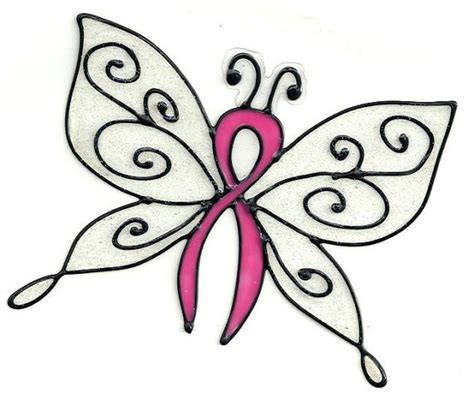 ribbon butterfly glitter window cling
