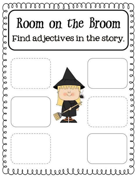 room on the broom pdf room on the broom adjectives pdf drive childrens activities the o jays