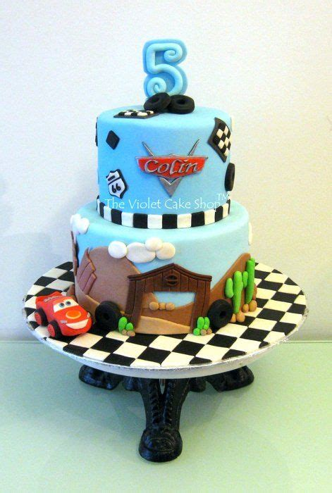 disney cars cake for s 5th by thevioletcakeshop