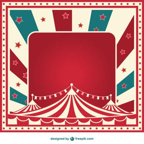 carnival sign template vintage sunburst circus template vector free