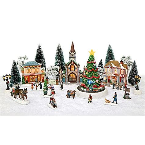 christmas village sets 30 piece led christmas village set bed bath beyond