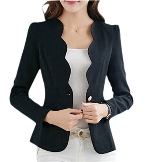 jacket design ladies suits new autumn casual jackets women slim short design suit