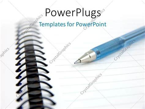 Powerpoint Template Blue Pen On A Notebook With White Color 23240 Notebook Powerpoint Template
