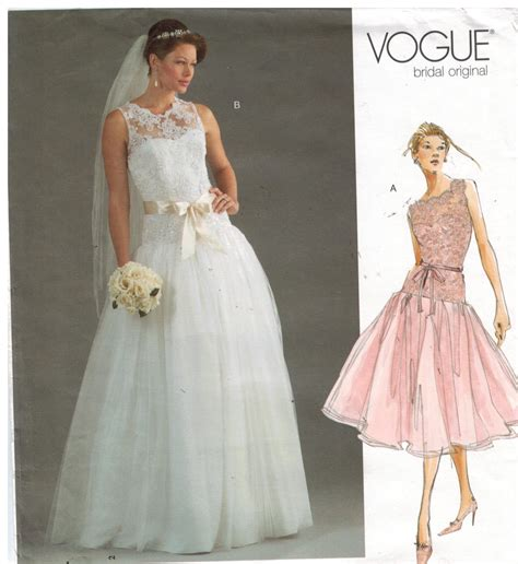 Wedding Gown Patterns by Vogue Wedding Gown Sewing Patterns Junoir Bridesmaid Dresses