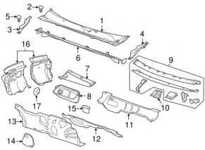 2011 Buick Regal Parts Oem Cowl For 2011 Buick Regal Gmpartscenter Net