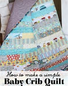 project design team wednesday simple baby crib quilt