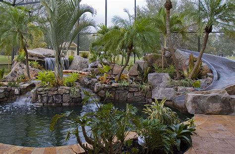 landscaping around swimming pools with tropical plants in sarasota florida near bradenton fl