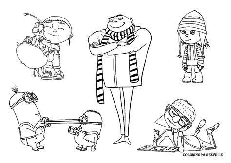 Despicable Me Coloring Pages Despicable Me Coloring Pages To Print