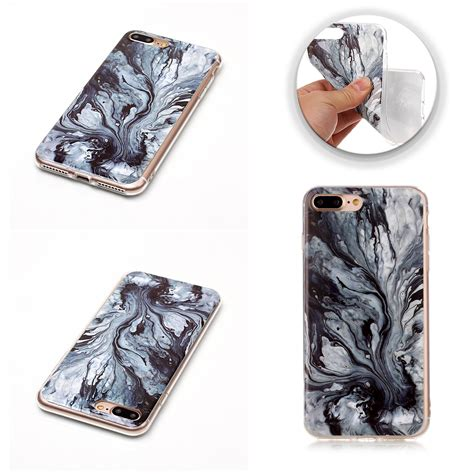 Marble Softcase For Iphone 4566 ultra slim marble pattern tpu soft back cover for iphone 6 plus 7 plus 6 5 ebay