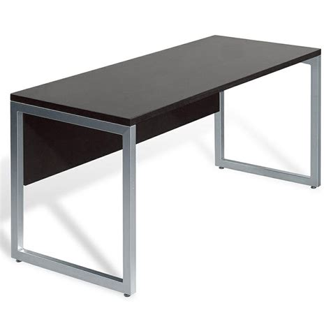 desk 48 inches wide wood aluminum 48 inch espresso computer table by jesper