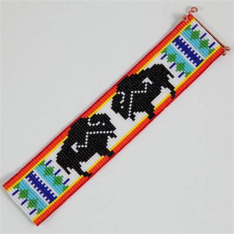 american indian bead loom american buffalo bead loom cuff bracelet by
