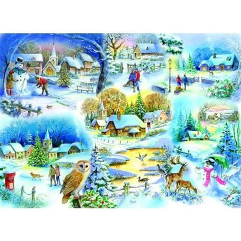 Puzzle Clementoni 3 X 48 3 Gambar Snow White let it snow jigsaw puzzle from jigsaw puzzles direct