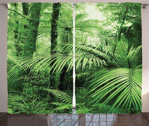 rainforest curtains exotic trees and plants tropic rainforest nature zen theme