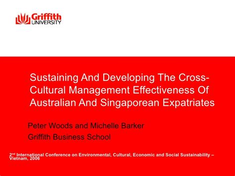 Cross Cultural Management 1 sustaining and developing the cross cultural management