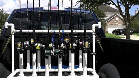 truck fishing rod reel rack carrier