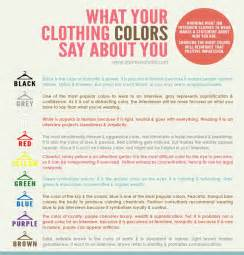 what color should you wear to an what your clothing colors say about you knowing what