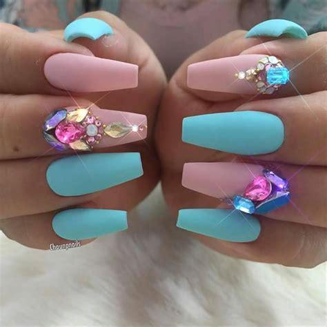 fotos de uñas de acrilico azul turquesa ideas de u 241 as hermosas en mate 32 curso de