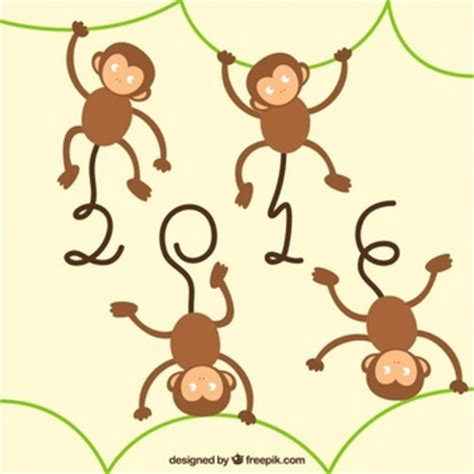 new year monkey border monkey vectors photos and psd files free