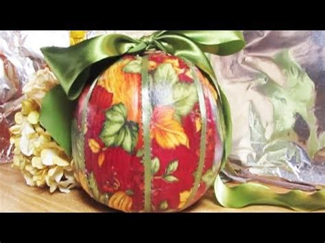 Can You Decoupage With Fabric - pumpkin ideas decoupage with fabric