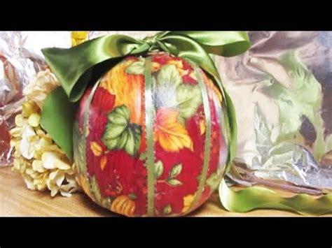 Can You Decoupage Fabric - pumpkin ideas decoupage with fabric