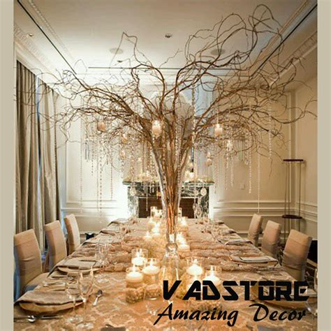 tree branch centerpiece 5ft naturial brown willow branches wedding table