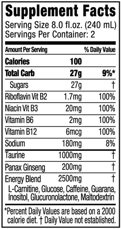 energy drink labels file energy drink supplement facts jpg