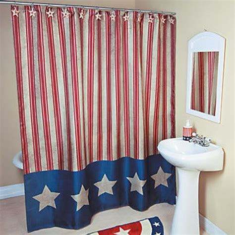 patriotic bathroom decor americana patriotic 4th of july shower curtain bathroom decor stars