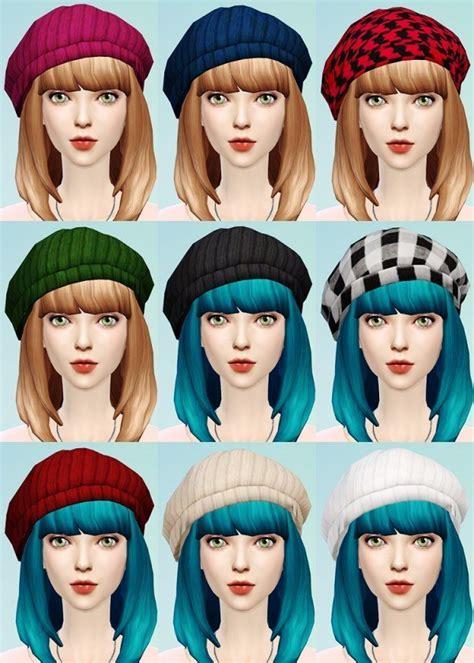 Kk Home Decor js boutique knit beret and cat ear beanies sims 4 downloads