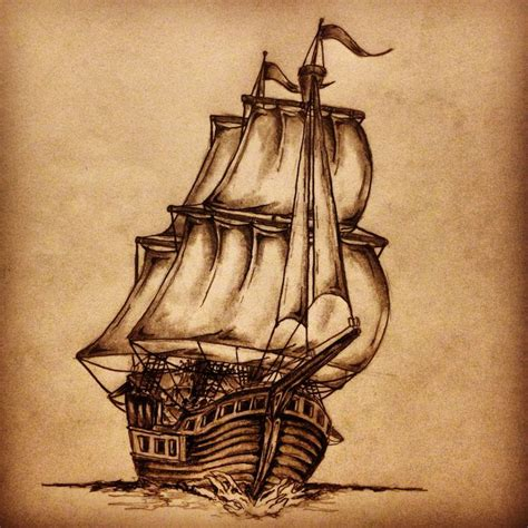 ship tattoo sketch by ranz pinterest
