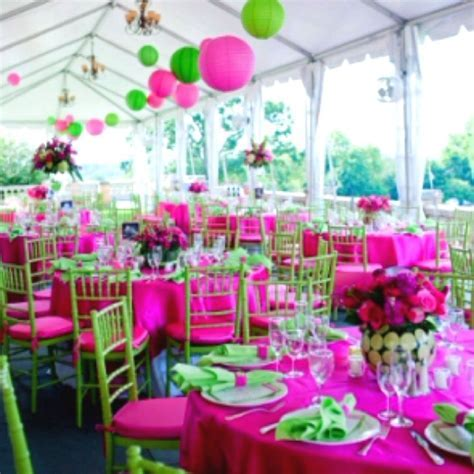 Pink And Green Outdoor Wedding Decor Ideas   wedding