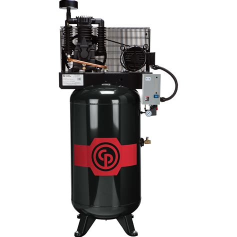 chicago pneumatic reciprocating air compressor 7 5 hp 80 gallon 208 230 volt 1 phase model