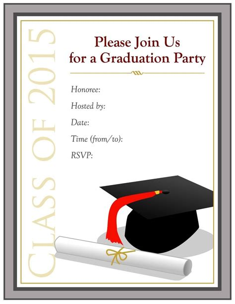graduation invitation templates microsoft word free graduation invitation templates for word