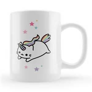 mug designer caticorn mug kawaii cute caticorn gift cat unicorn unique