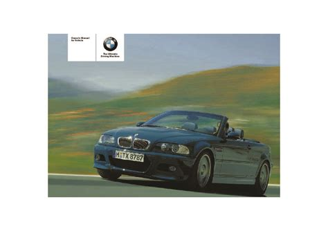 old car owners manuals 2005 bmw 3 series transmission control 2005 bmw 3 series m3 e46 convertible owners manual