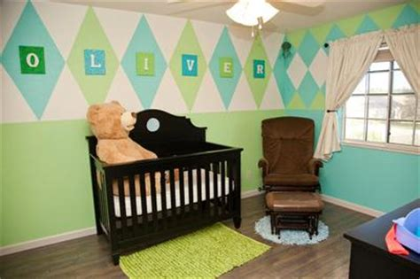 Baby Room Green Paint by Paint An Argyle Nursery Wall To Complement Baby S Room Decor