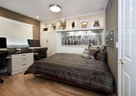 bedroom office layout maximize small spaces murphy bed design ideas