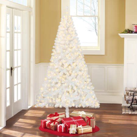holiday time pre lit 65 madison pine white artificial christmas tree clear lights time pre lit 6 5 pine white artificial tree clear lights walmart