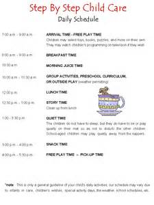sample daycare schedule for home pictures inspirational