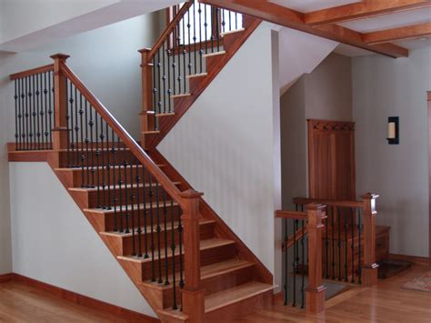 Mahogany Banister by Stair Awesome Stair Design Idea With Brown Mahogany Treads